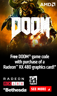 FREE Doom game code with purchase of a Radeon RX 480 graphics card