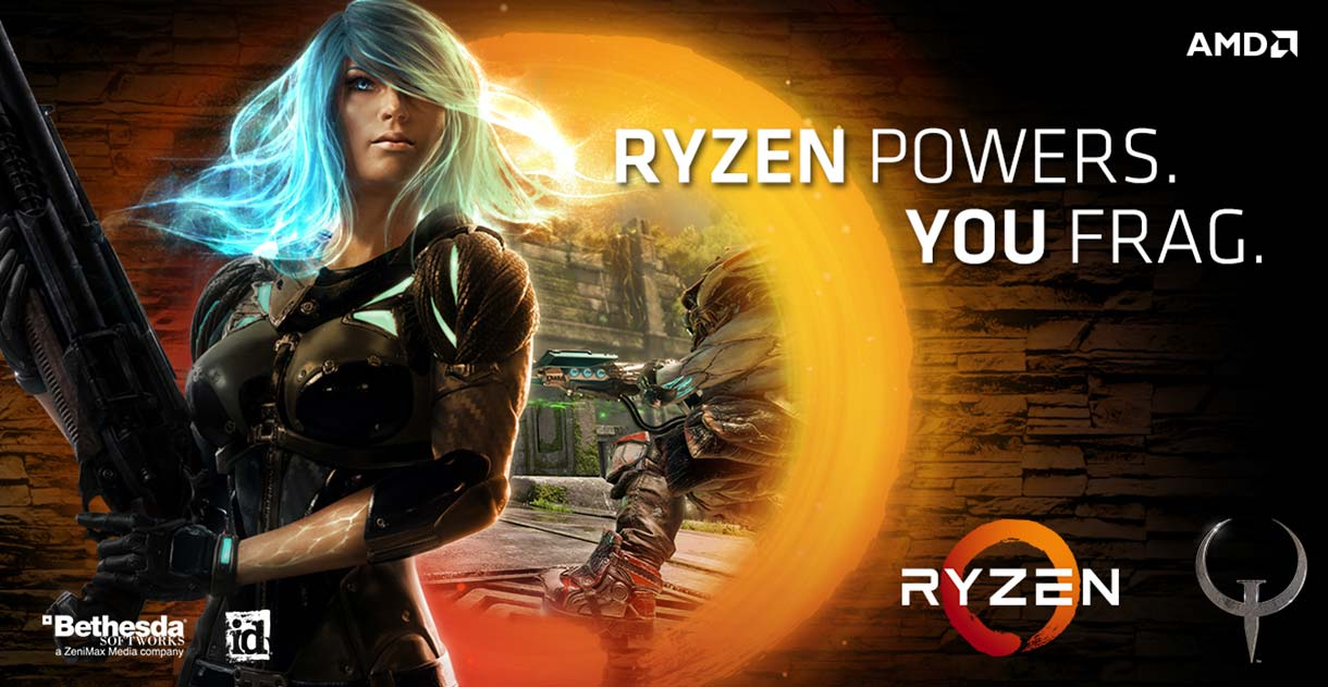 Get the Champions Pack for Quake Champions with AMD Ryzen 5 or 7 processors!