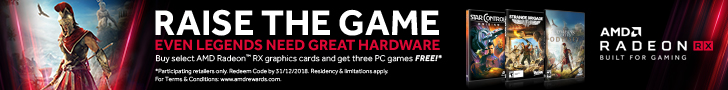 Buy select AMD Radeon™ RX graphics cards and get three PC games FREE!