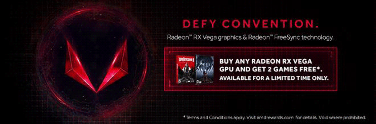 Buy any Radeon RX Vega GPU, Get 2 games FREE