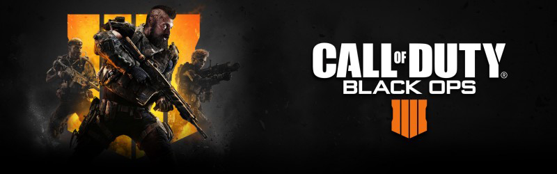 Call of Duty Black Ops banner with fighters