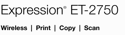 Epson Expression ET-2750. Wireless, Print, Copy, Scan