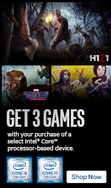 Buy select Intel CPU and get 3 Games Free