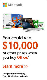 Microsoft Office Sweepstakes. Buy Office and enter for a chance to win $10,000!