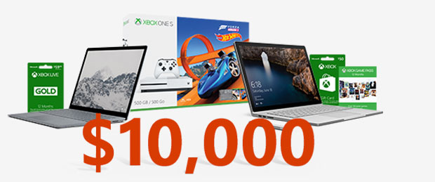 Microsoft Sweepstakes prize images