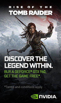 NVIDIA. Tomb Raider. Discover the Legend Within.