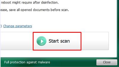 Kaspersky TDSSKiller, Start Scan