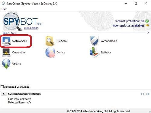 Spybot System Scan