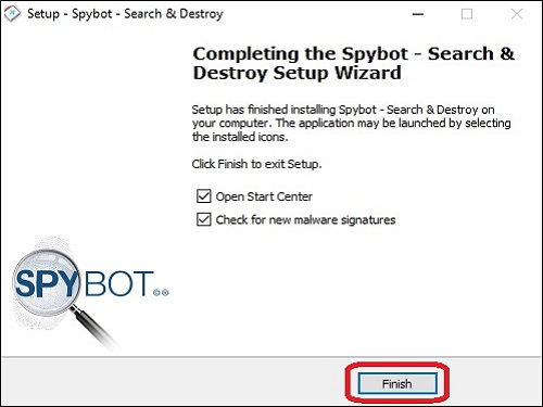 Spybot Program Setup Wizard