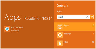 ESET App search