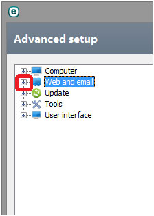advanced setup web and email