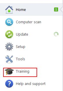 ESET Program Menu, Training