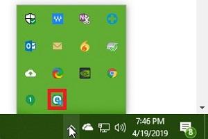 Windows System Tray, ESET Icon