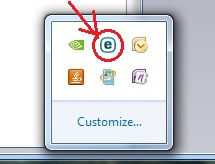 Windows System Tray ESET Icon