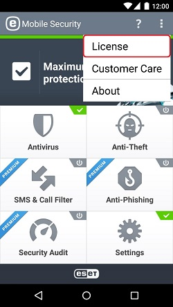 ESET Mobile Security, License