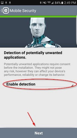 ESET install, potentially unwanted applications
