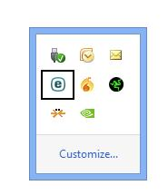 Windows System Tray ESET Icon