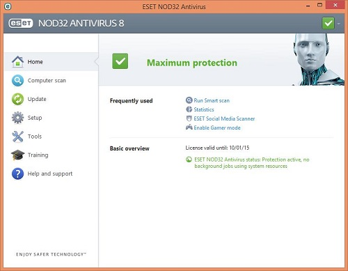 ESET Home Screen