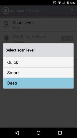 ESET Automatic Scan Level, Deep