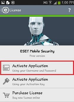 ESET License, Activate Application