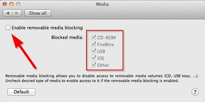 ESET Cyber Security Removable Media Blocking