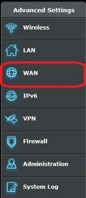 Router WAN Settings