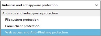 ESET Protection Statistics, Choose Category