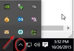 Windows System Tray Hidden Programs Icon, ESET Program Icon