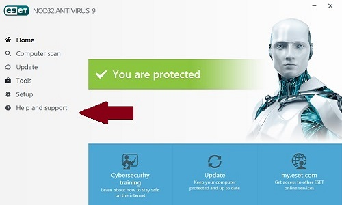 ESET Program, Help and Support