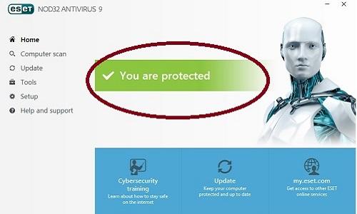 ESET Program Protected message