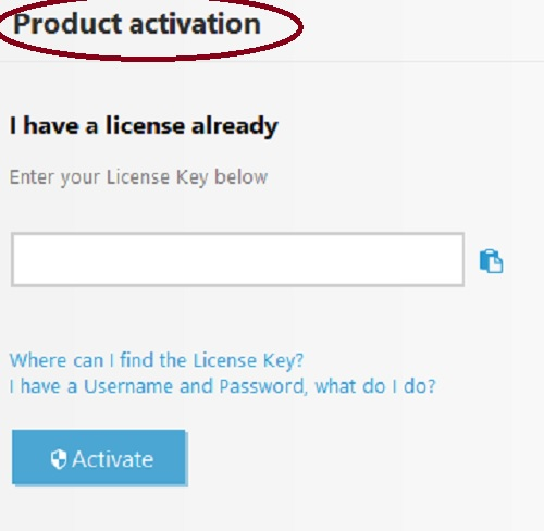 ESET Product Activation, License Key, Activate