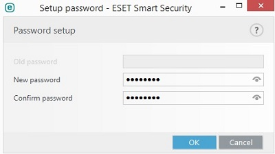 ESET Parental Control, Password Setup