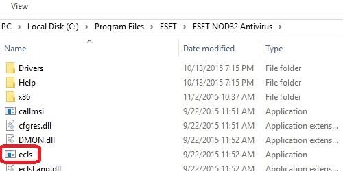 File Explorer, ECLS file