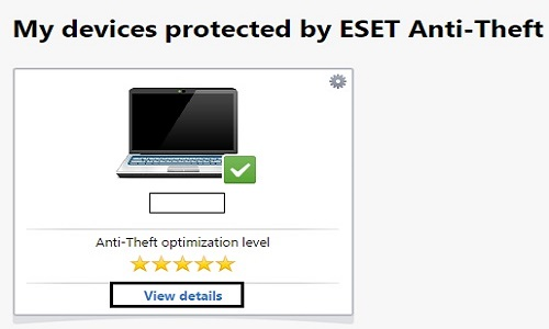 ESET Anti-Theft Protected Devices