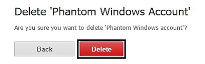 ESET Phantom Account Deletion, Confirm