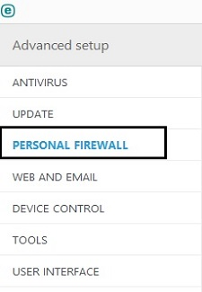 ESET Tools, Personal Firewall