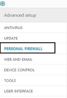 ESET Tools, Personal Firewall