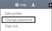 My ESET, Change Password