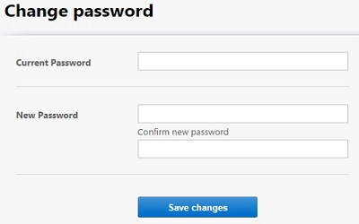 Password Change Entry Form