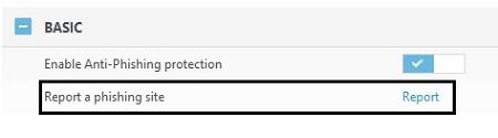 Anti-Phishing Basic Settings