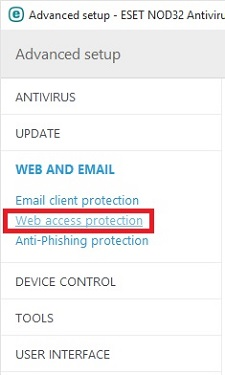ESET Web and Email, Web Access Protection