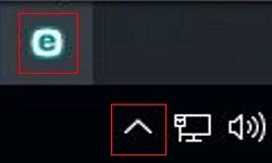 Windows System Tray Hidden Programs, ESET Icon