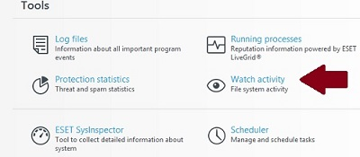 ESET Tools, Watch Activity