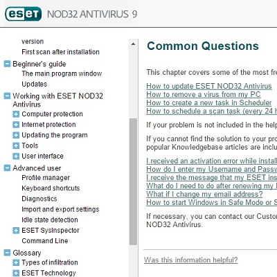 ESET Common Questions
