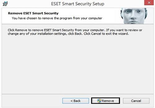 Remove ESET Smart Security
