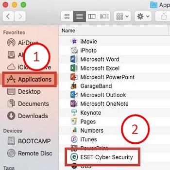 Mac OS X El Capitan, Applications, ESET