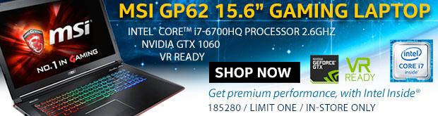 MSI GP62 15.6