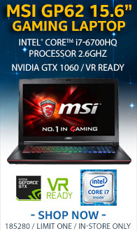 """MSI GP62 15.6"""" Gaming Laptop Computer"""