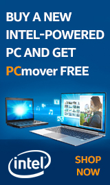 Buy a NEW Intel-Powered PC and get PCmover for FREE.