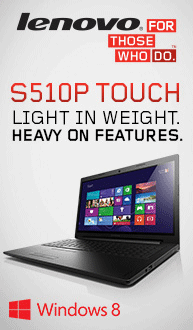 Light Weight. Heavy on Features! S510p Touch